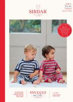 Sirdar Snuggly 100% Cotton DK Knitting Pattern Booklet - 5276 Onsies